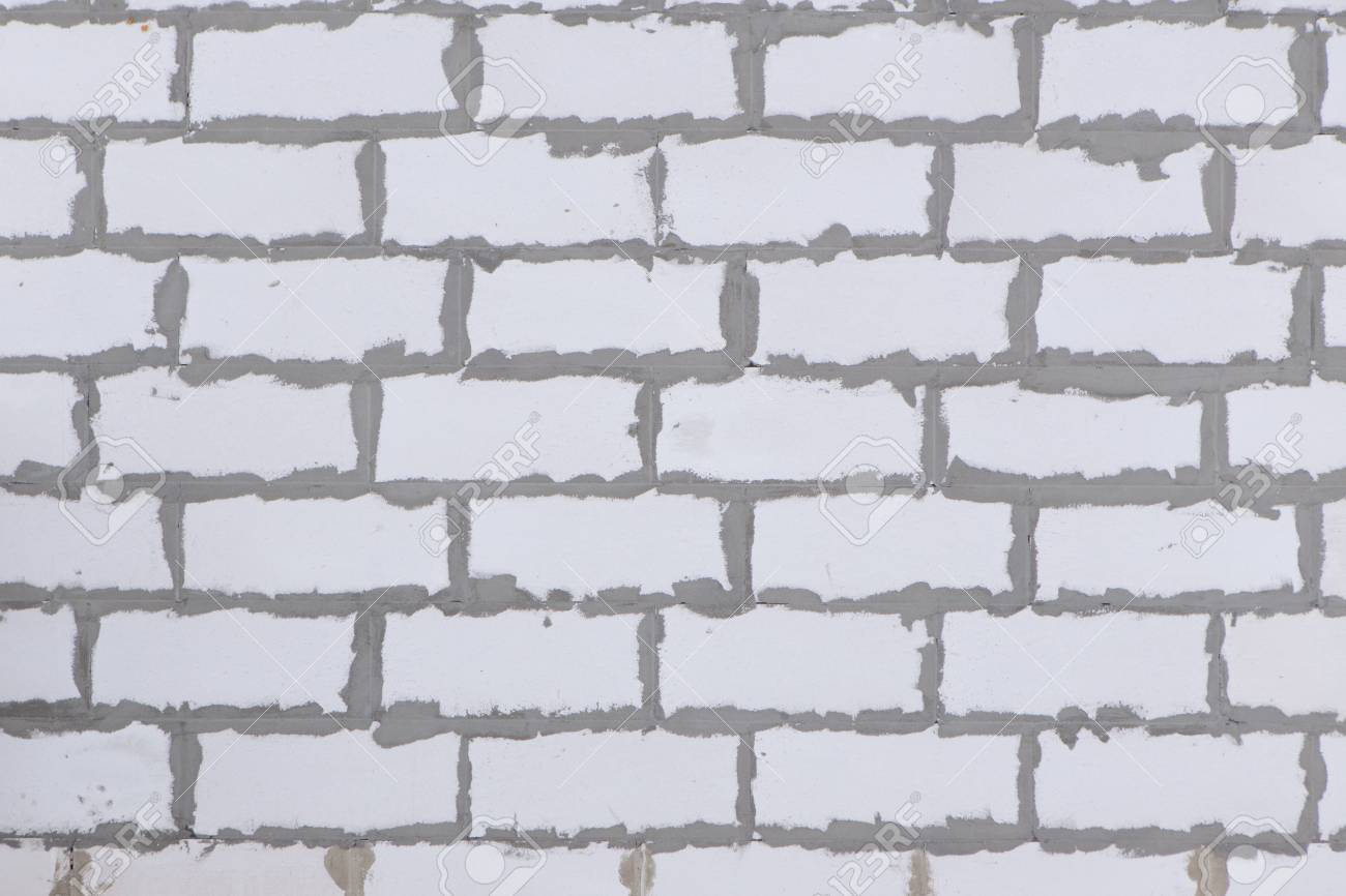House wall textued background from autoclaved aerated concrete