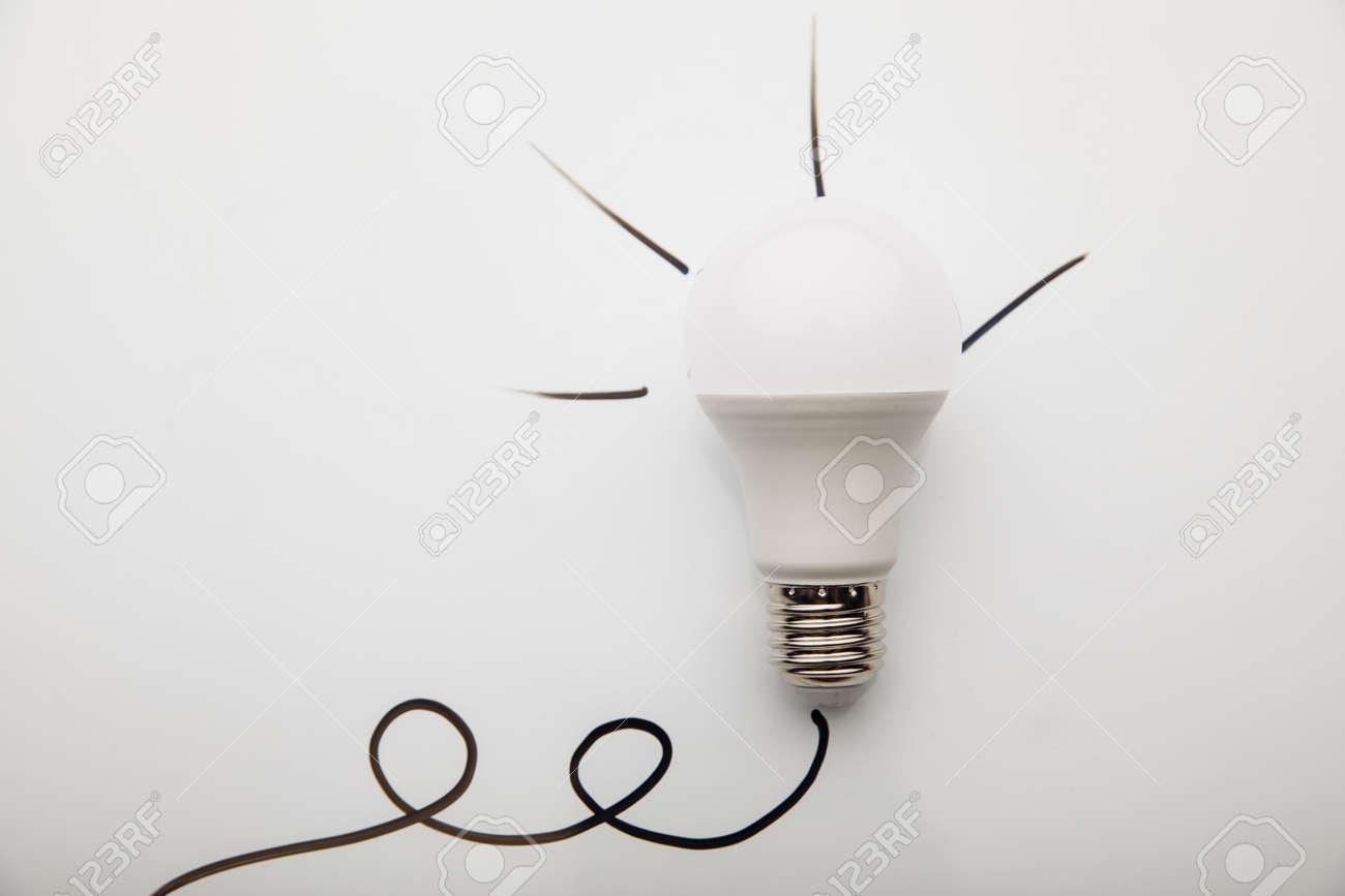 Light bulb idea on a white background - 169819661