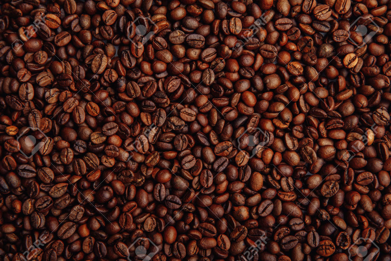 Coffee beans background - 169820284