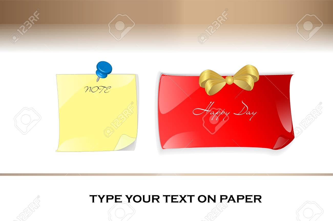 The Sticky note vector for memory something. Stock Vector - 16437686