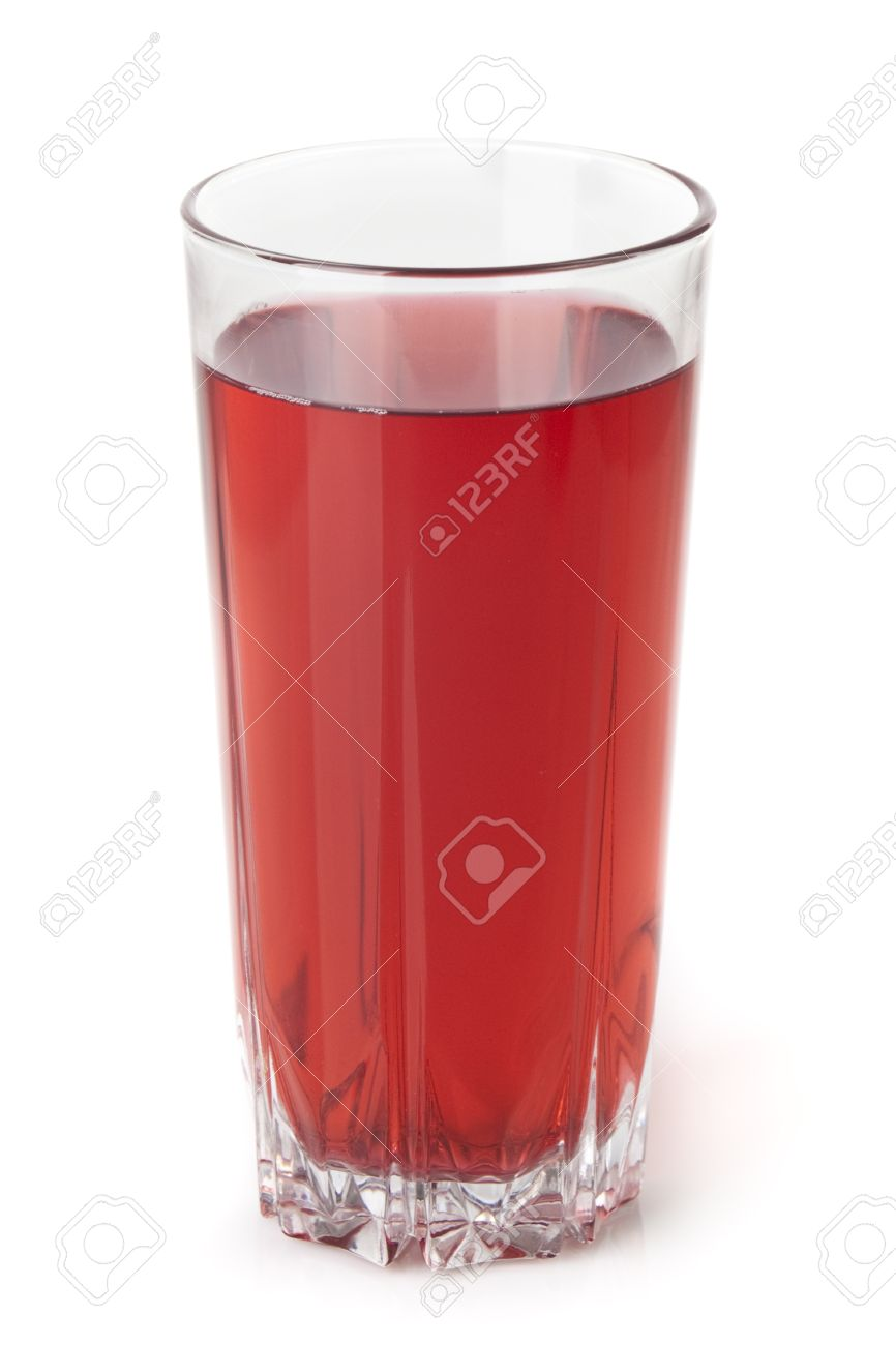 Glass juice cups design - Glass Cup With Red Liquid For Your Design Stock Photo 8180183