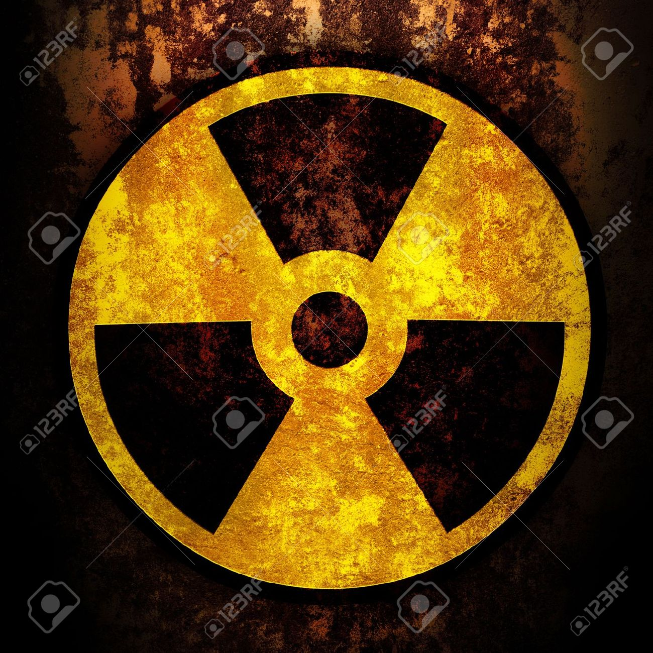 sign of radiation on a rusty texture Stock Photo - 9259150