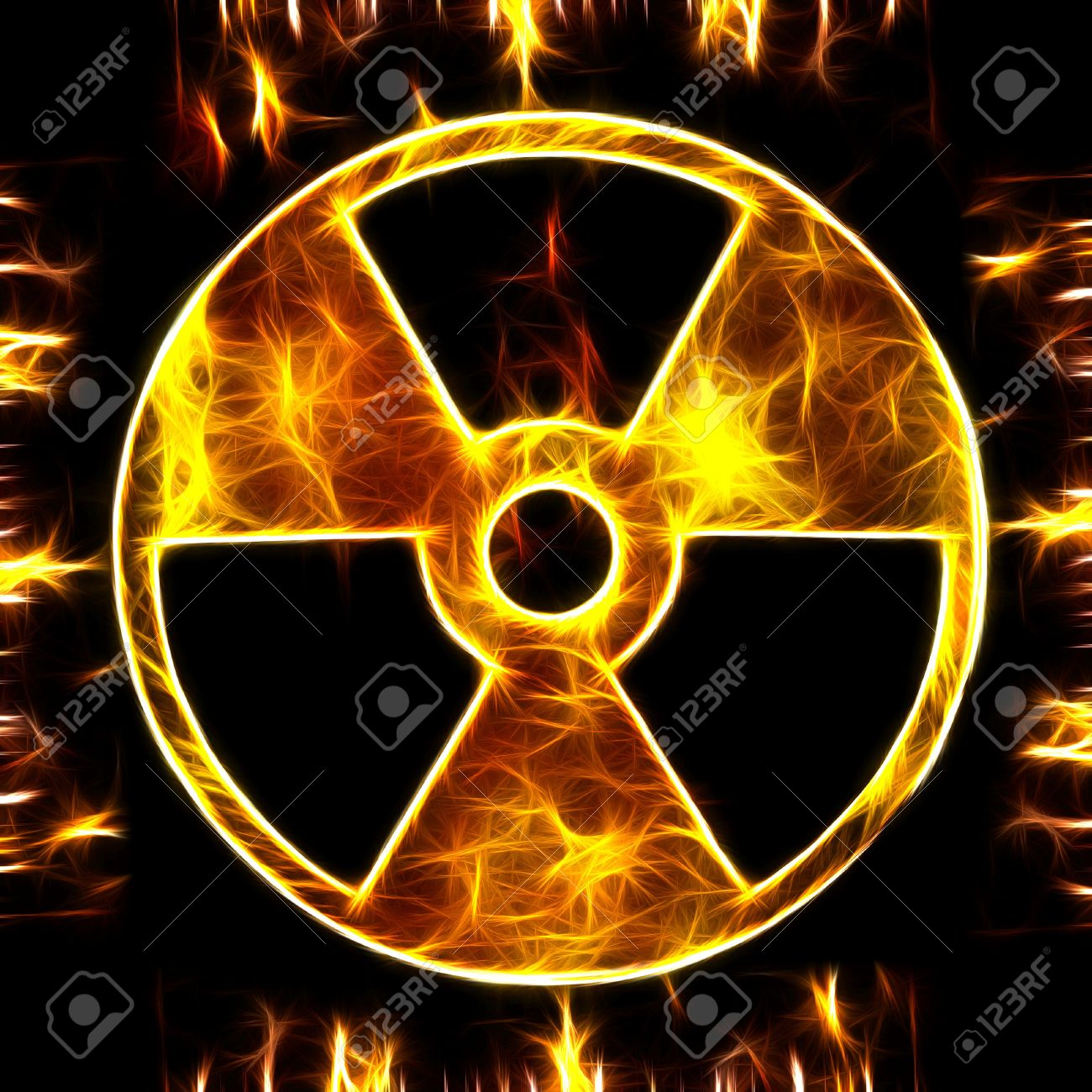 sign of radiation on a rusty texture Stock Photo - 9259163