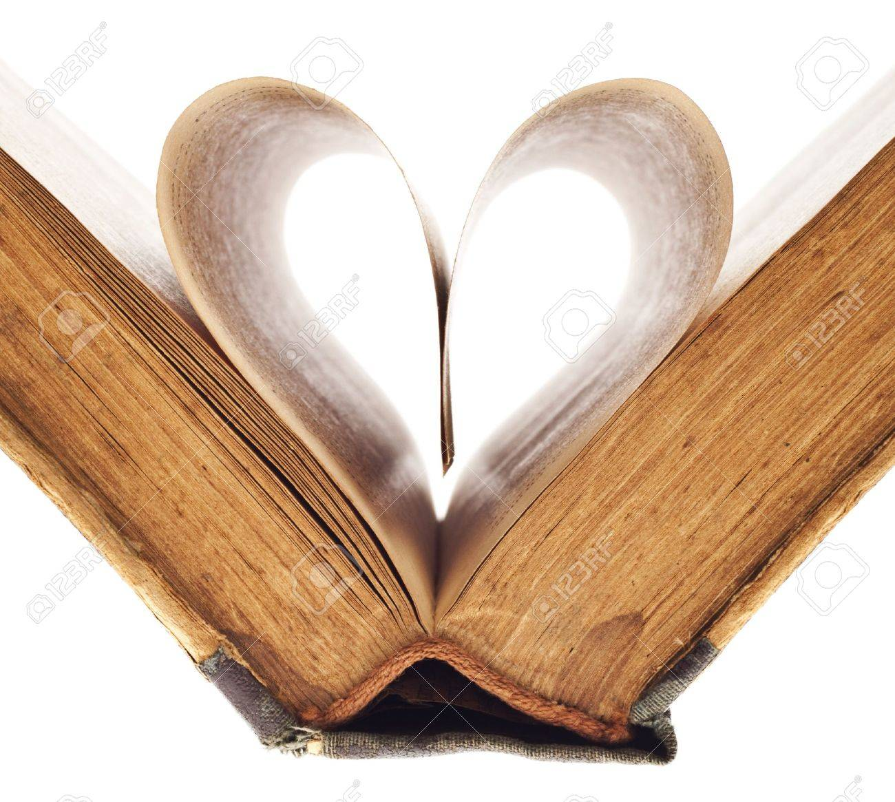 heart of the book's pages Stock Photo - 10778175