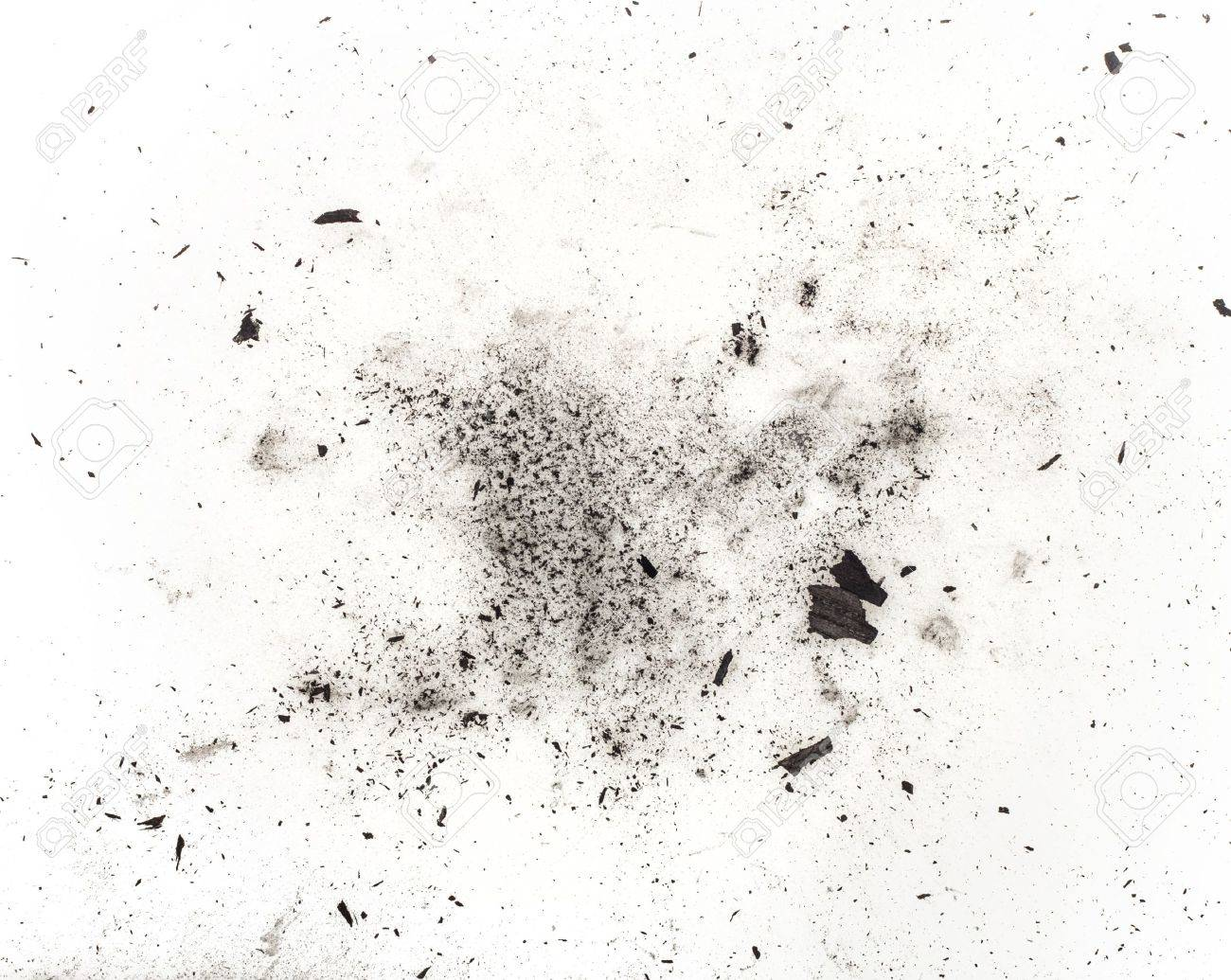 particles of charcoal on a white background. Placer cosmetics - 16483992