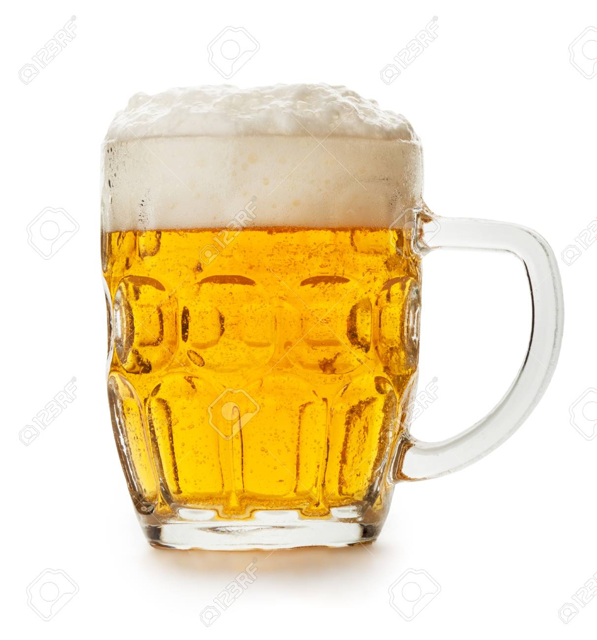 mug of beer isolated on the white background Stock Photo - 16575841