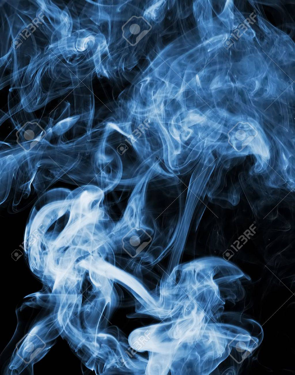 abstract smoke picture in front of a black background - 16800700