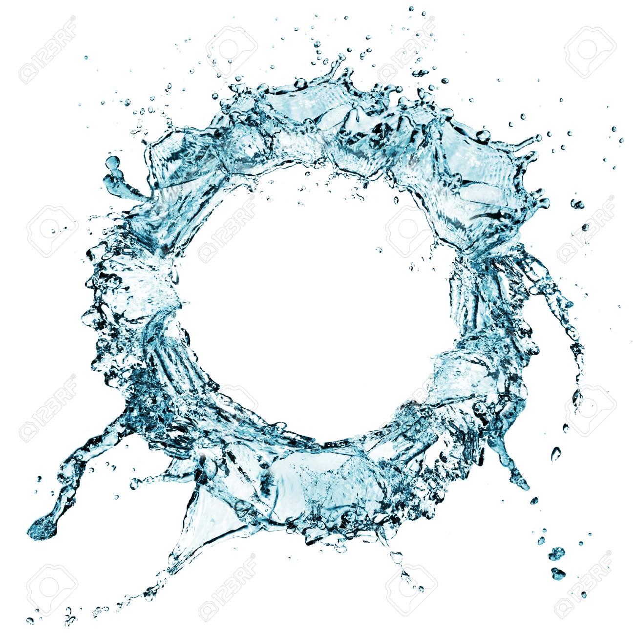blue water splash isolated on white background Stock Photo - 17566371
