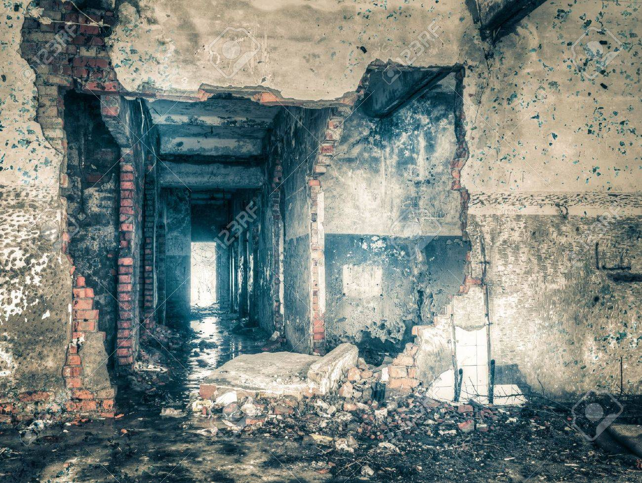 High Dynamic Range Image of an Abandoned building - 18971065