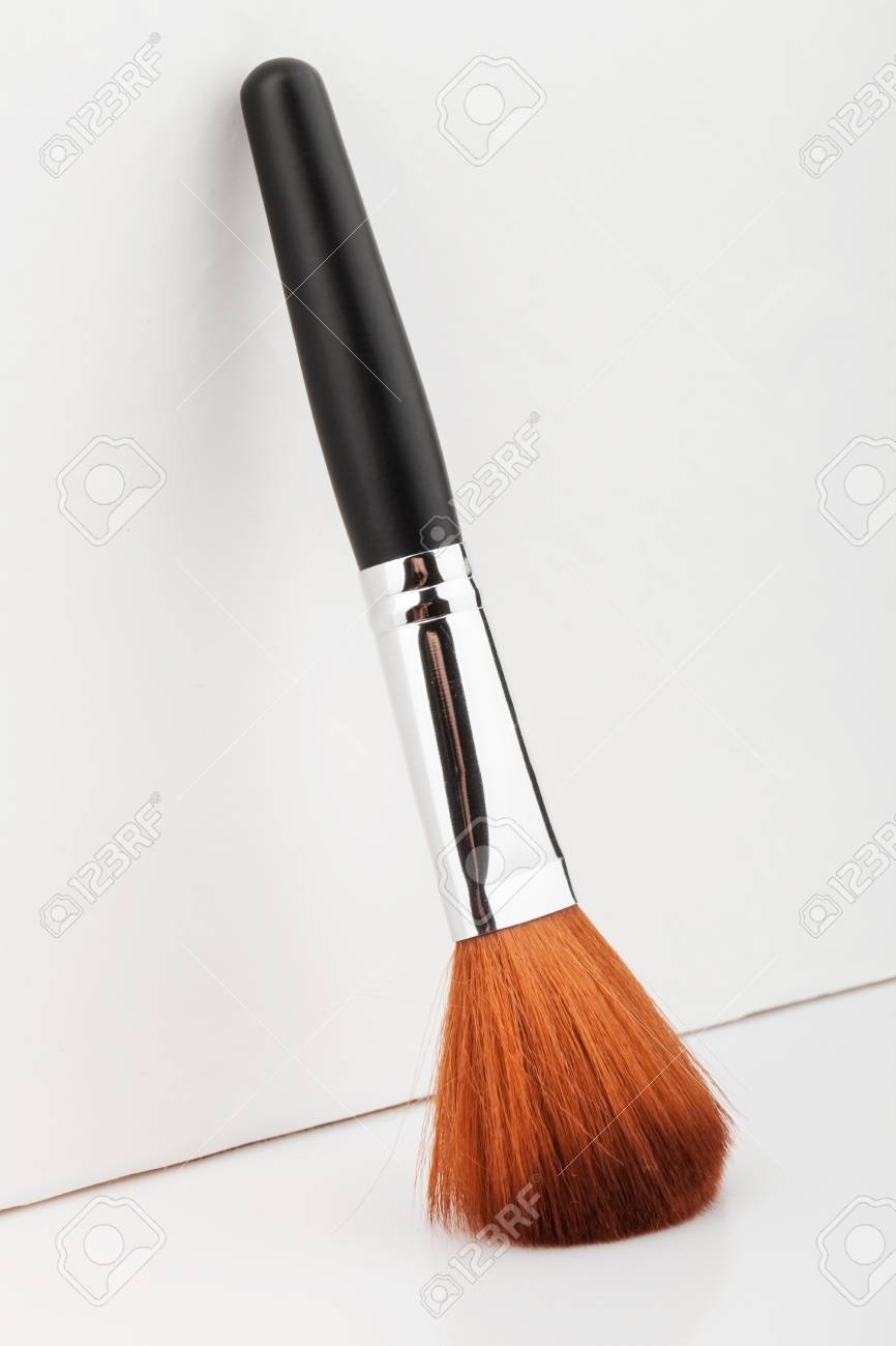 brown make up brush on white background Stock Photo - 19900541