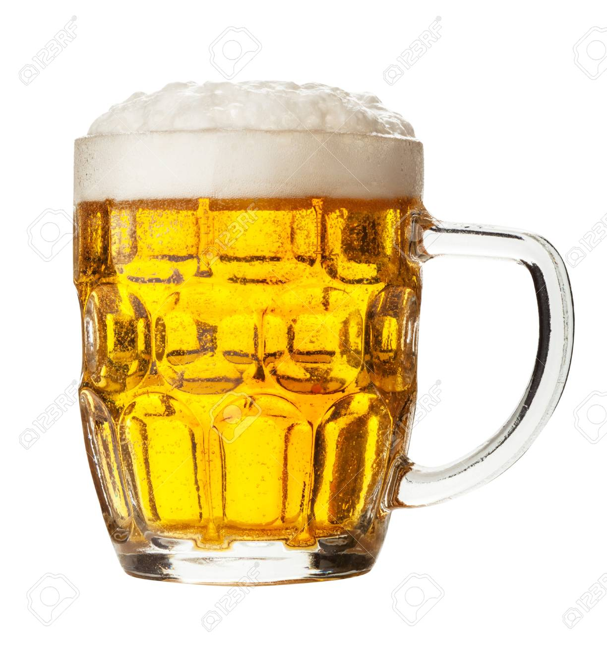 glass of beer on a white background. Clipping Path Stock Photo - 20484342