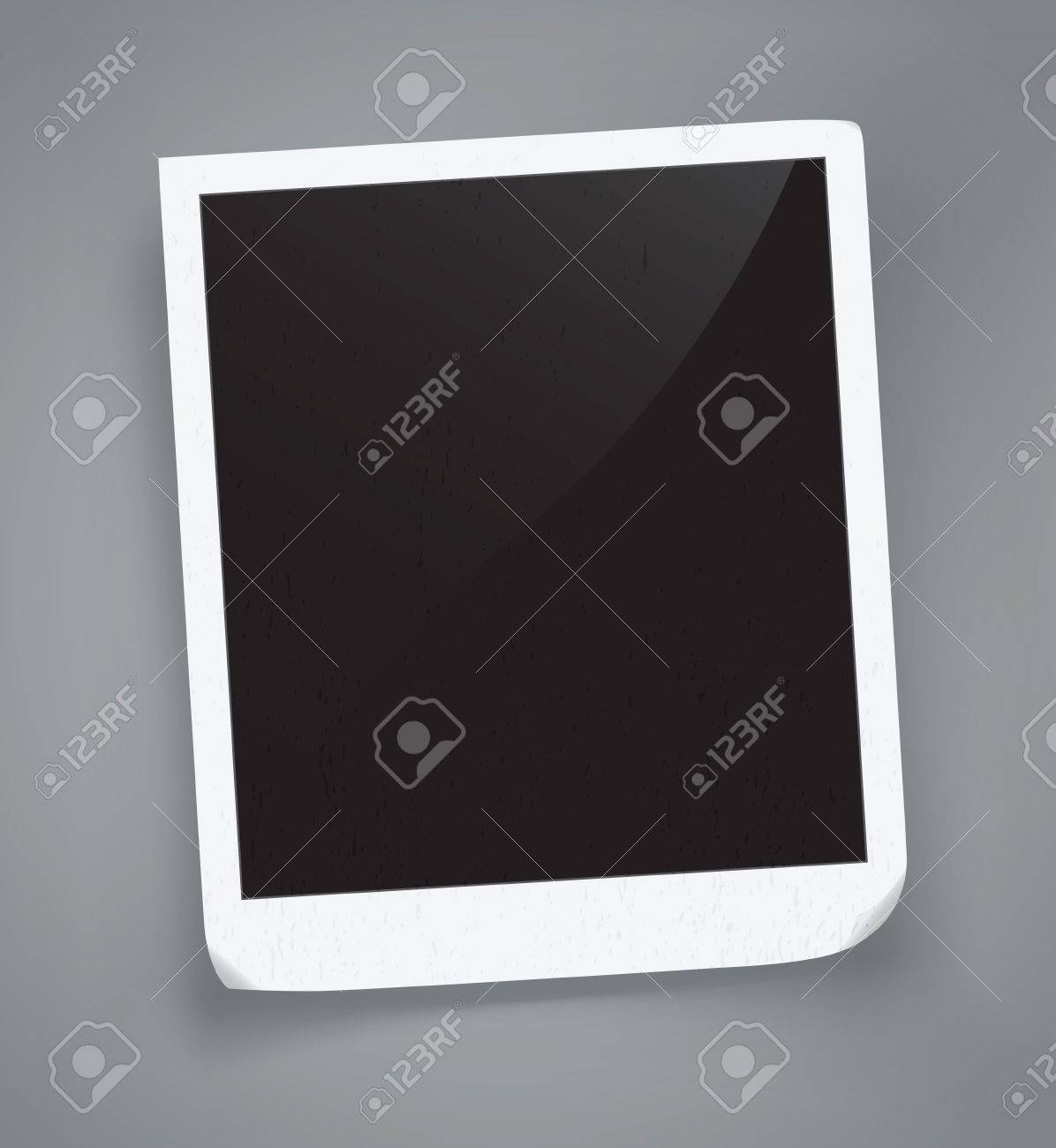 detailed illustration of a retro photo frame. Image contains gradient mesh - 21438117