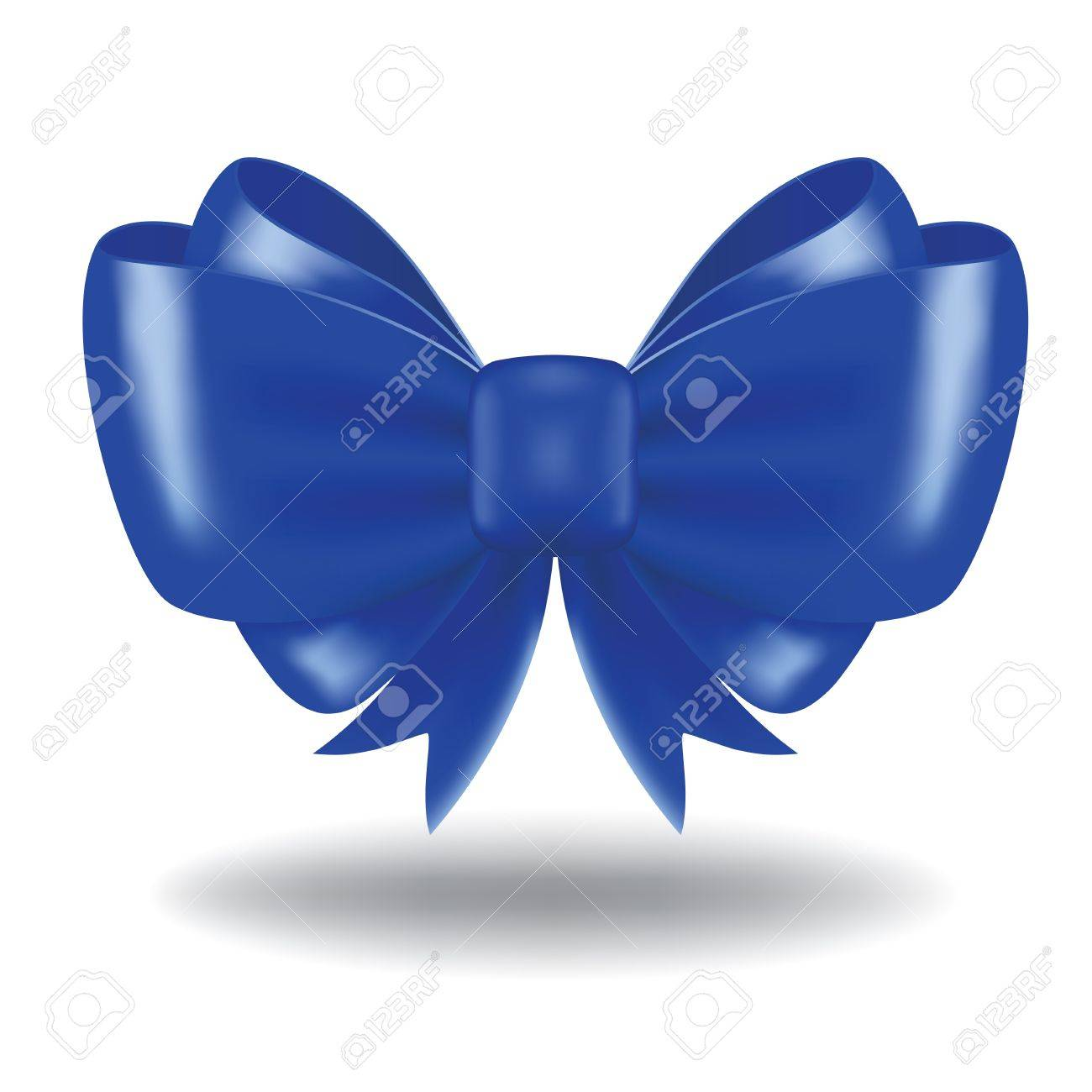 Blue vector gift bow and ribbon. Image contains gradient mesh Stock Vector - 21972583