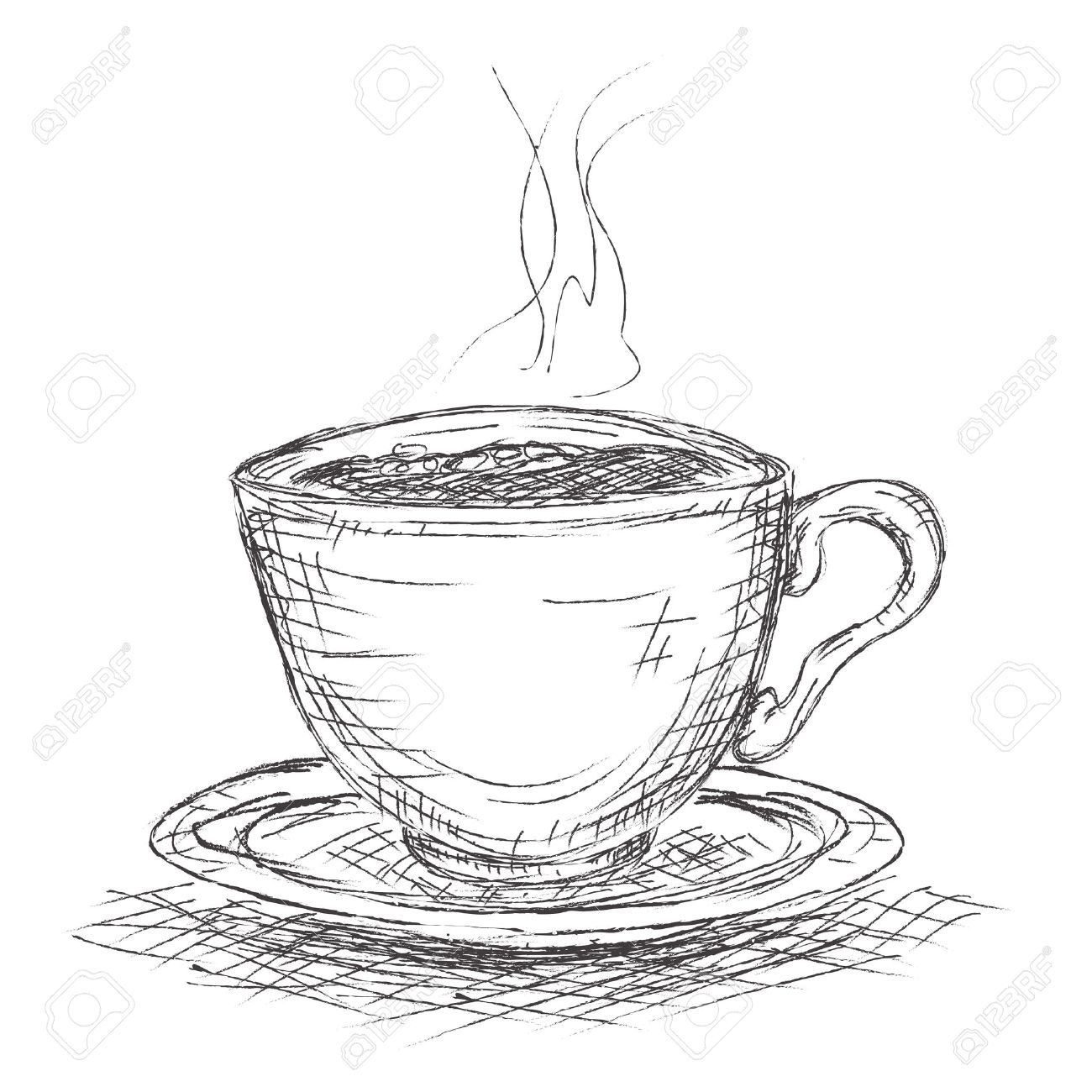 Coffee cup sketch - Vector Sketch Illustration Cup Of Coffee Stock Vector 25995167