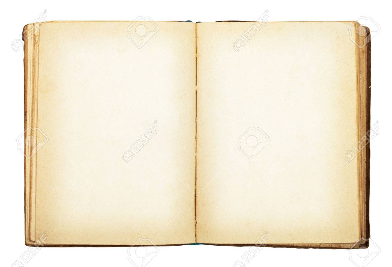 Old book isolated on white background. Clipping Path - 29980357