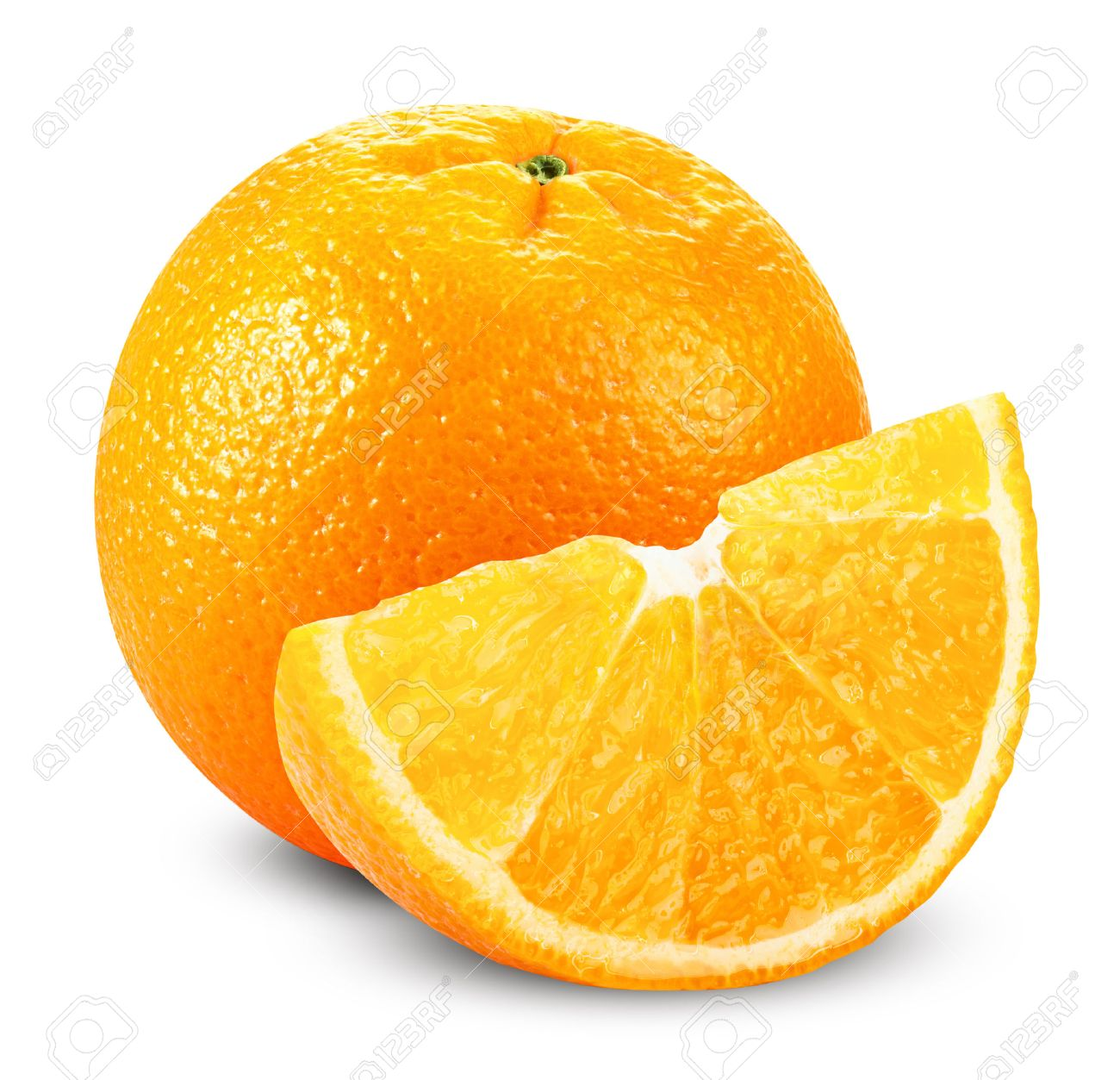 Orange fruits with slices isolated on white background. Clipping Path - 31372659