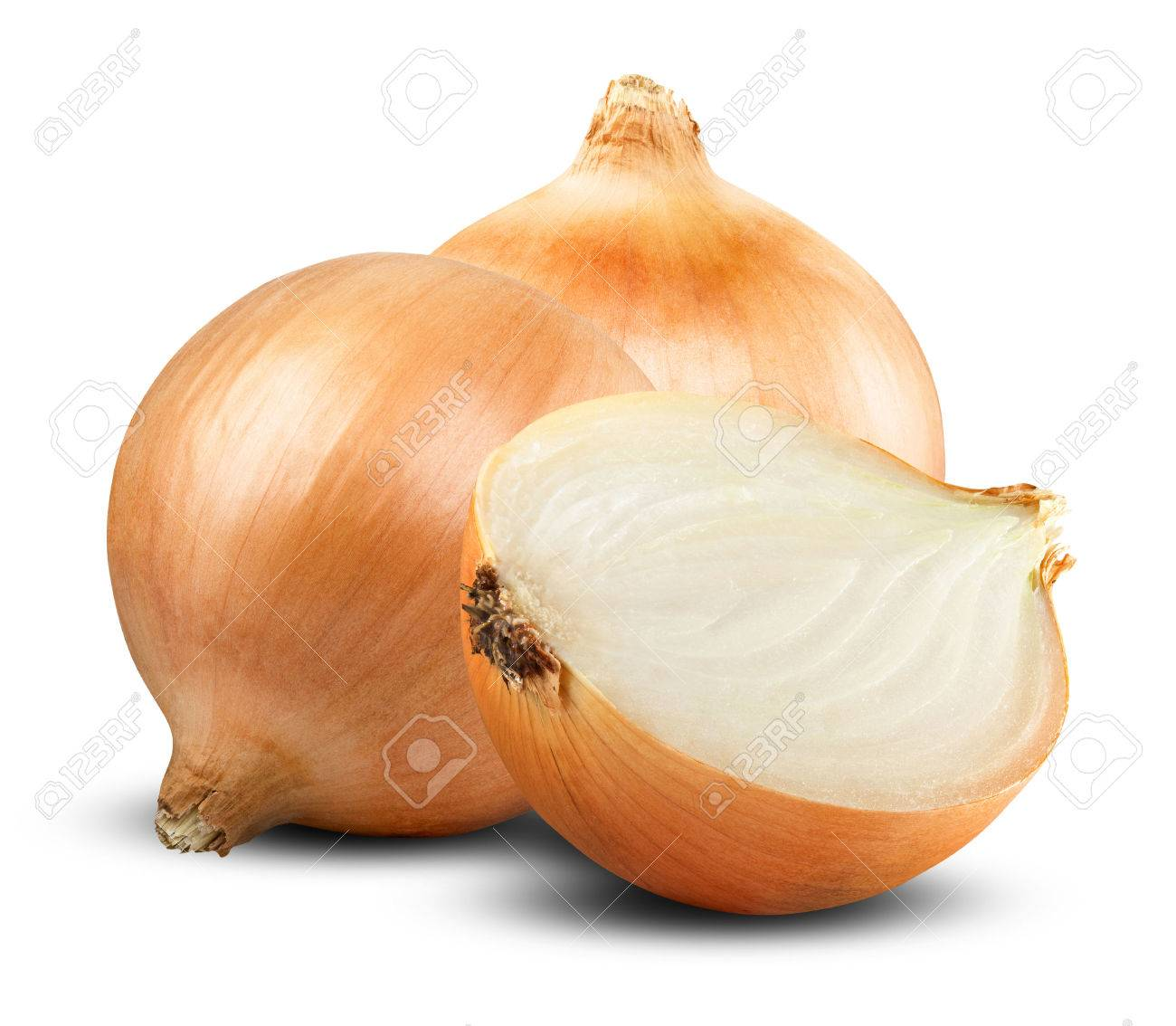 Fresh onion bulbs isolated on white background - 31590966