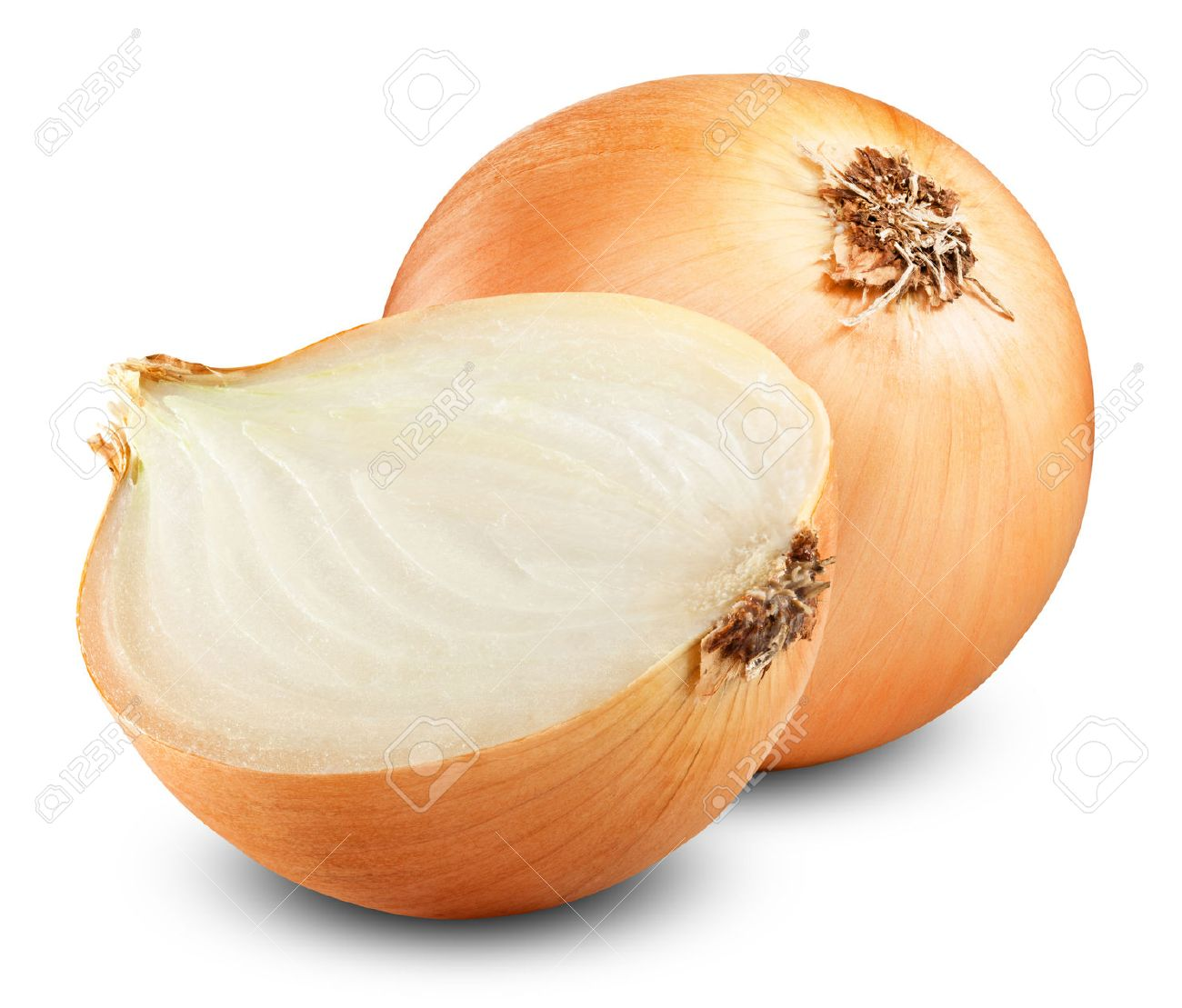 Fresh onion bulbs isolated on white background - 31590967