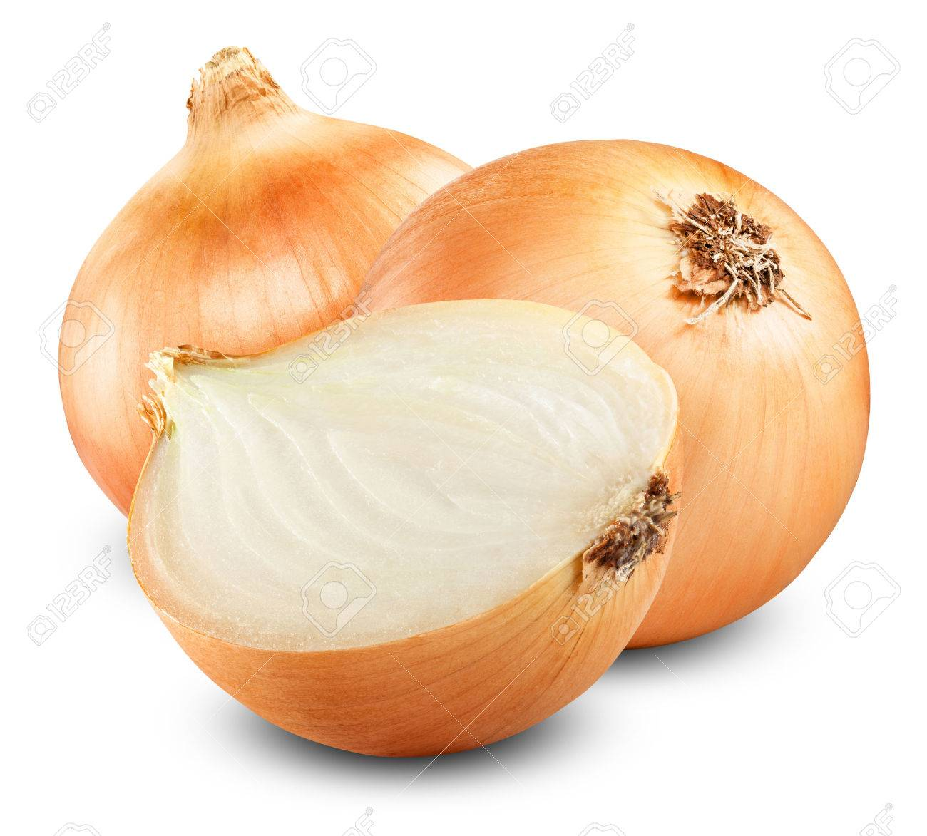 Fresh onion bulbs isolated on white background - 31590973