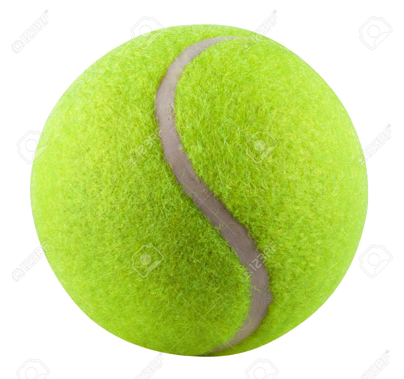 Tennis Ball isolated on white background. Clipping Path - 36287196