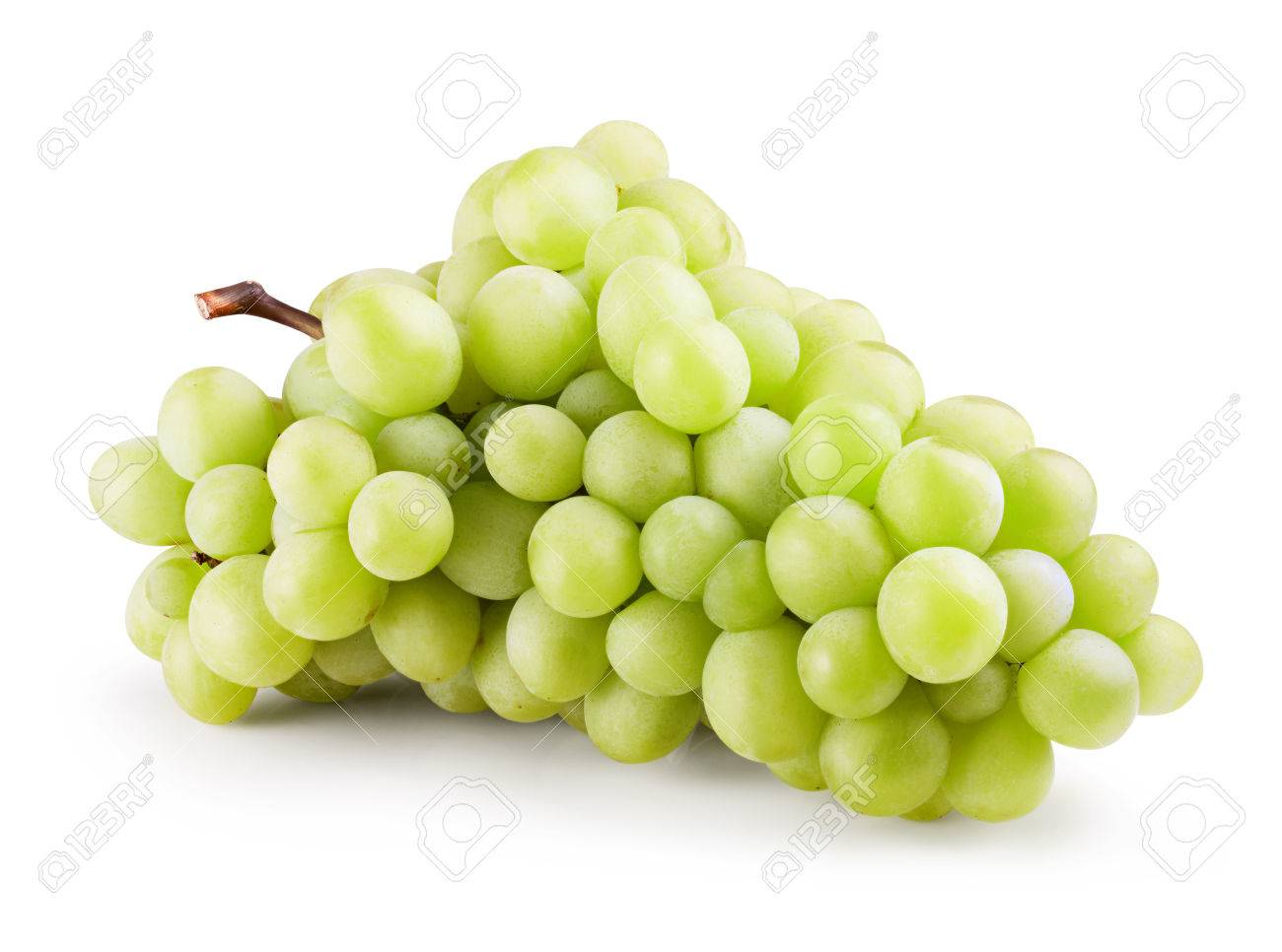Green grape bunch isolated on white background. Clipping Path - 44061171