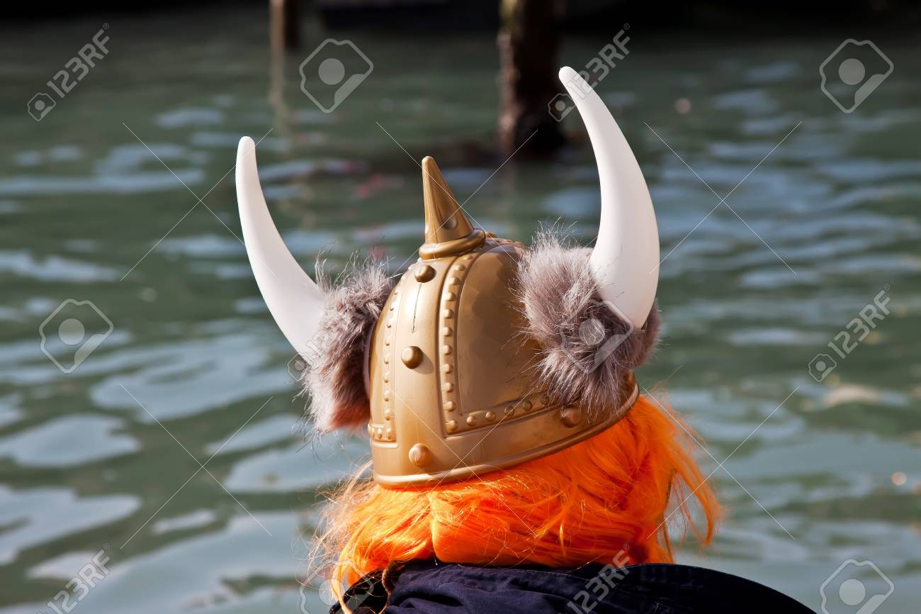 one viking looks for his boat Stock Photo - 17248732