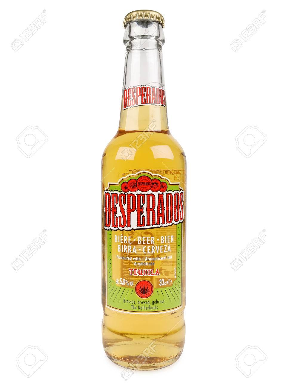 Pula Croatia February 27 2016 Desperados Lager Flavored Stock Photo Picture And Royalty Free Image Image 53943782