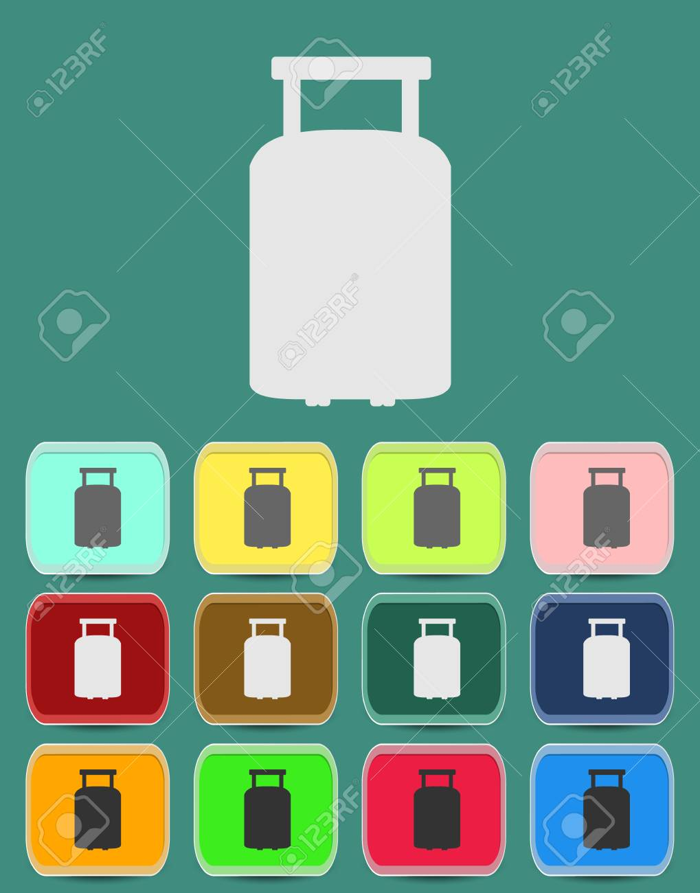 suitcase for travel icon Stock Vector - 29161028