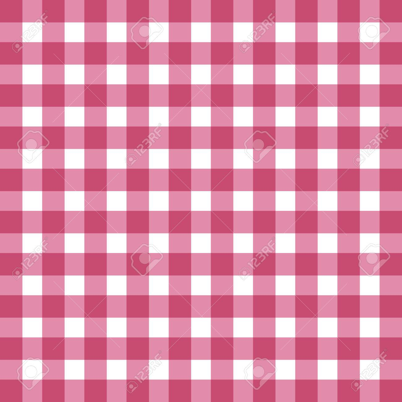 Flat Easy Tilable Red And White Gingham Repeat Pattern Print Seamless Background Wallpaper With