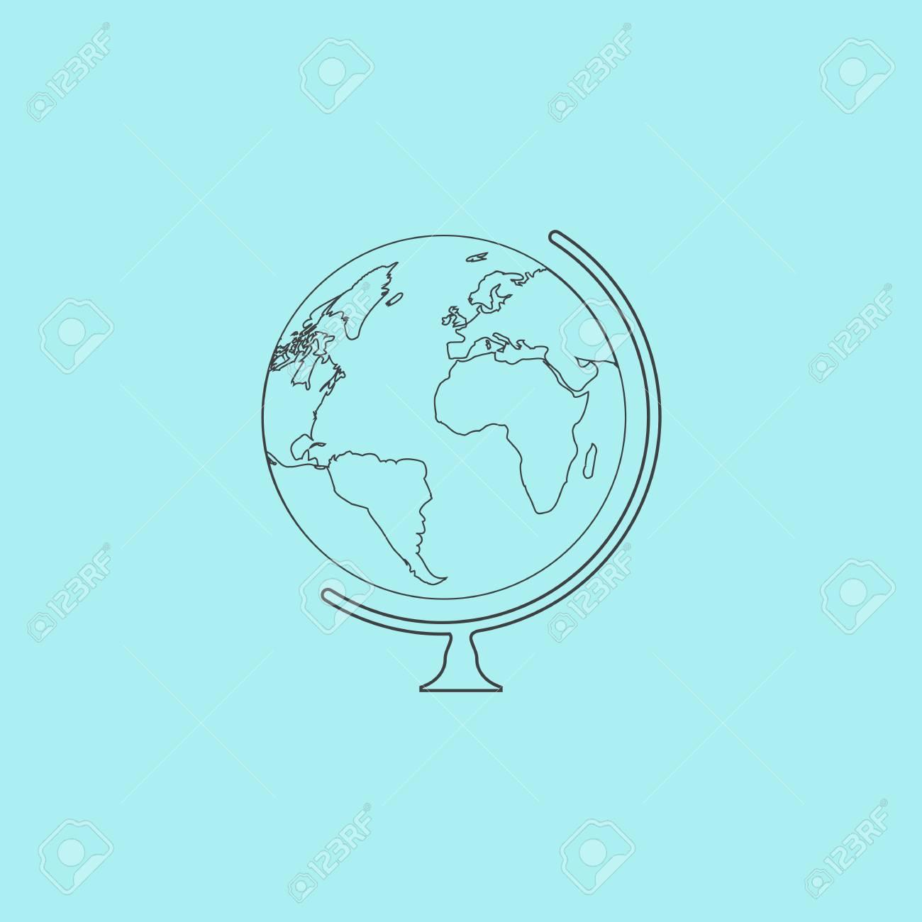 Outline Globe Flat