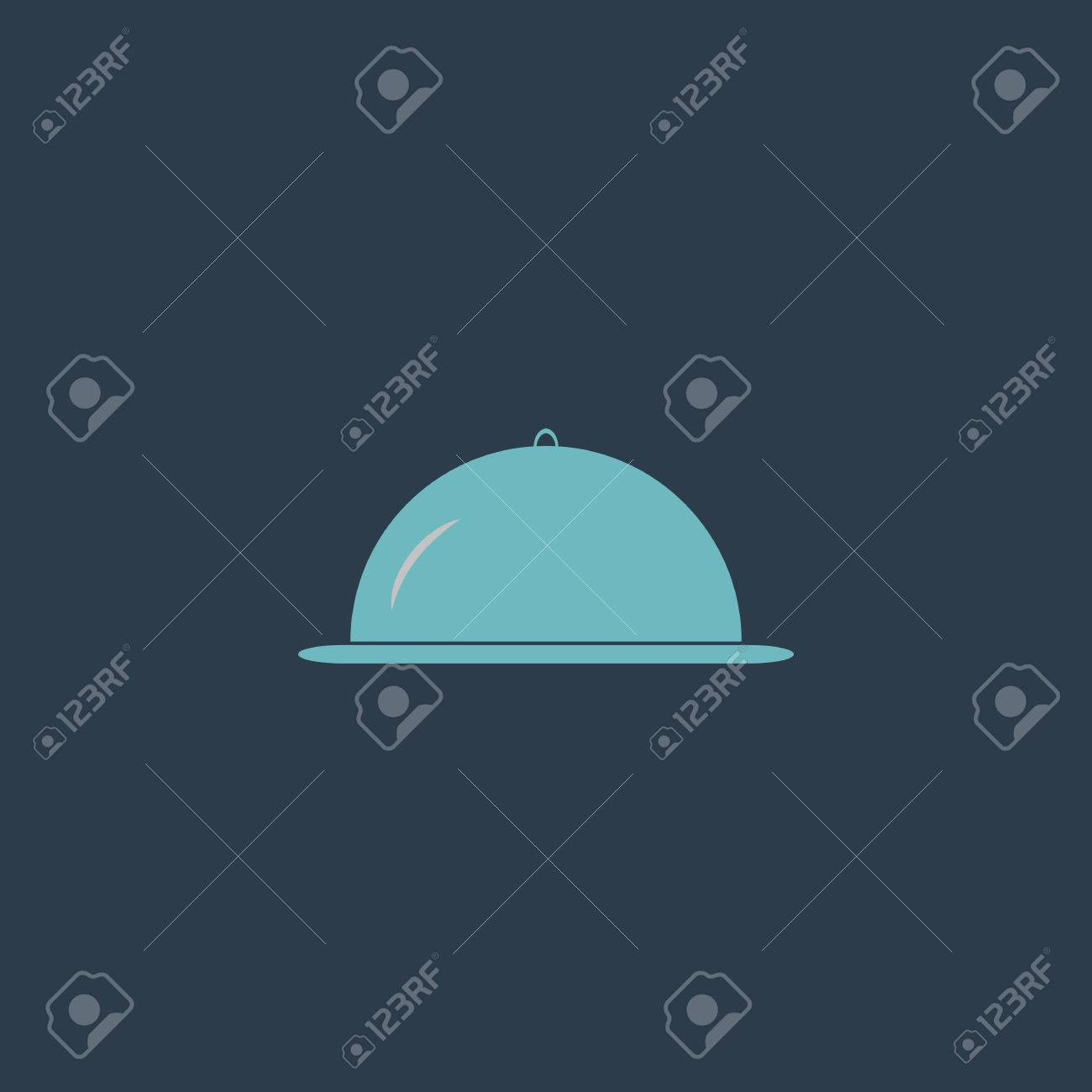 Restaurant Cloche Colorful Vector Icon Simple Retro Color Modern Royalty Free Cliparts Vectors And Stock Illustration Image 51448268