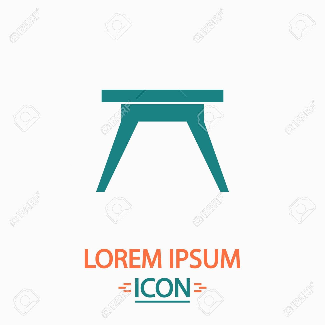 Simple table free other icons - Camping Table Flat Icon On White Background Simple Vector Illustration Stock Vector 57730895