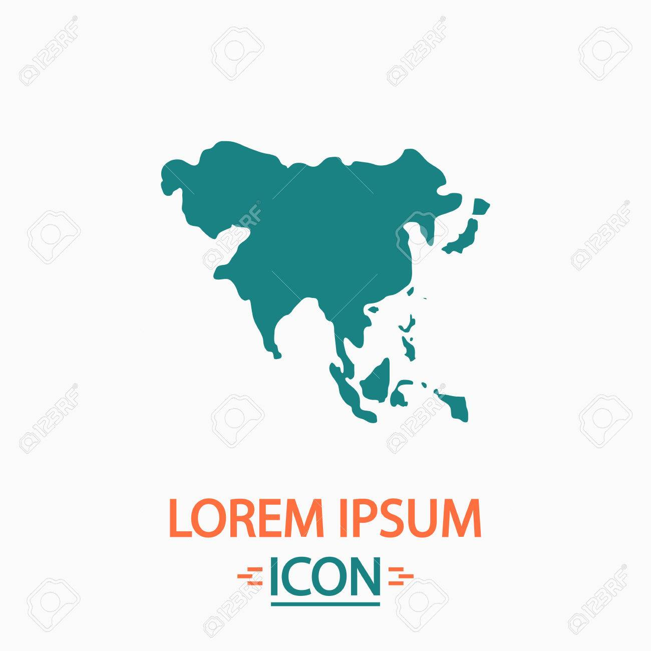 Asia flat icon on white background simple vector illustration asia flat icon on white background simple vector illustration stock vector 57731231 gumiabroncs Images