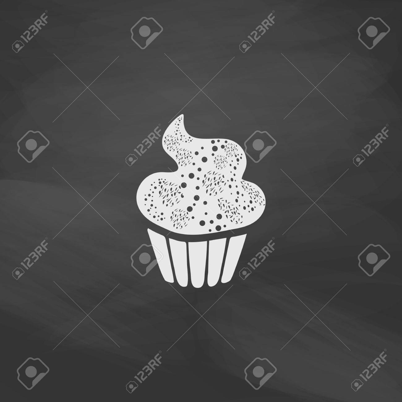 Susser Kleiner Kuchen Einfacher Vektorknopf Imitation Zeichnen