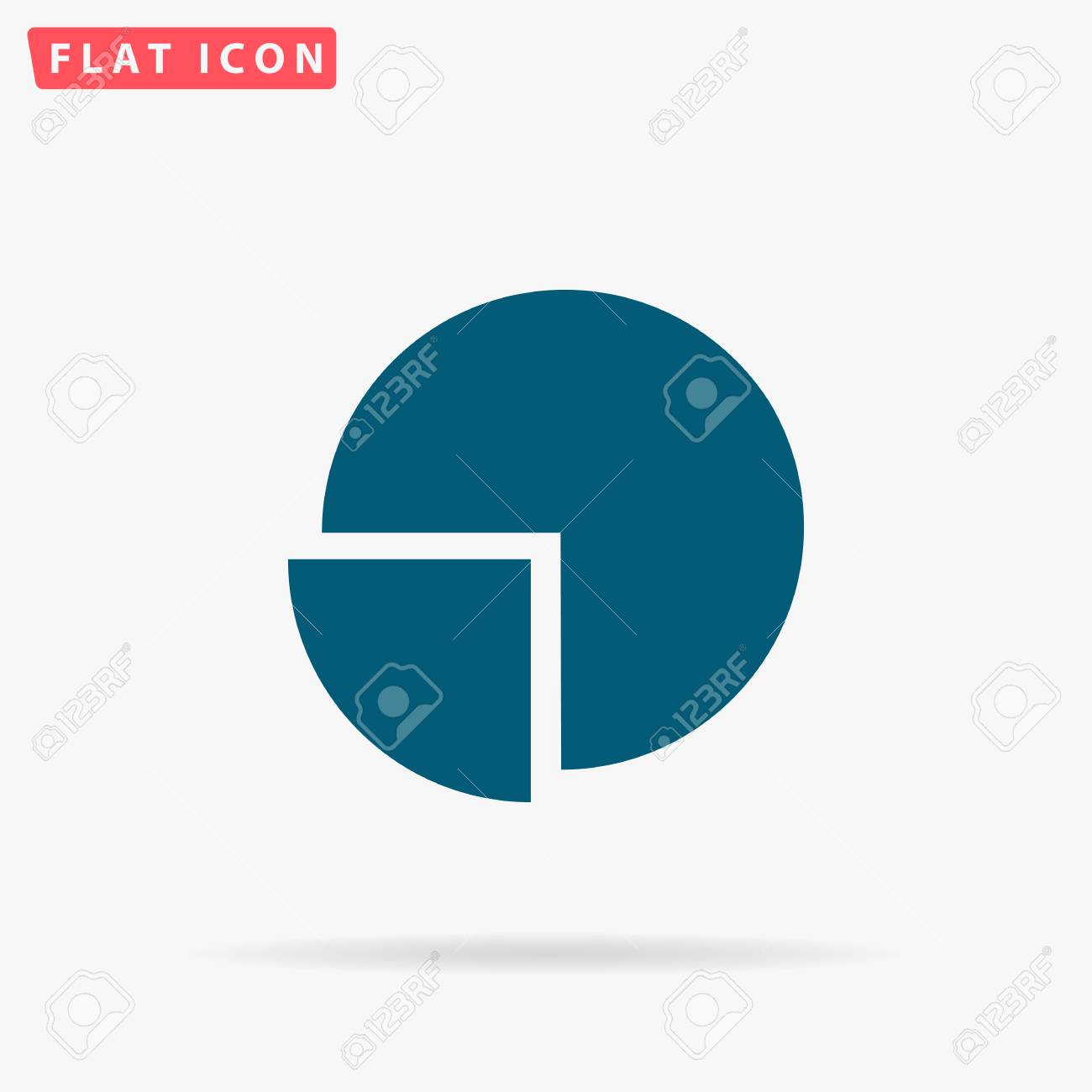 Diagram icon vector flat simple blue pictogram on white background diagram icon vector flat simple blue pictogram on white background illustration symbol with shadow ccuart Image collections