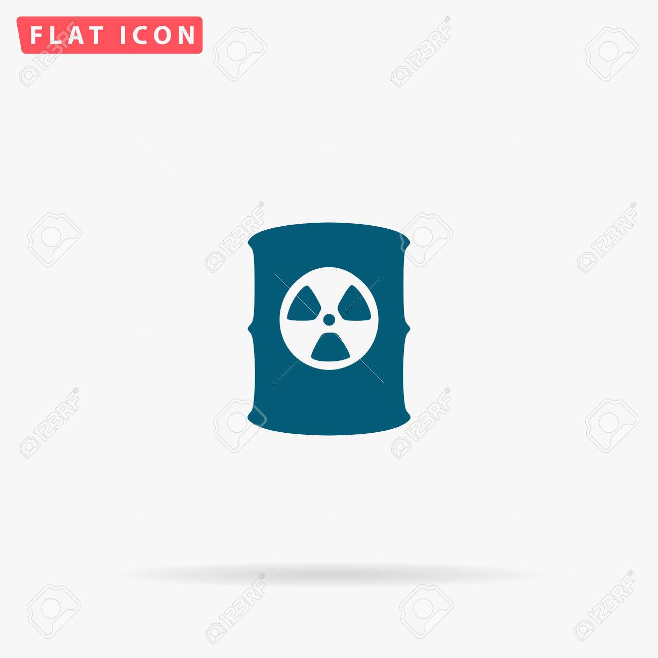 Toxic container icon vector flat simple blue pictogram on white toxic container icon vector flat simple blue pictogram on white background illustration symbol with biocorpaavc Images