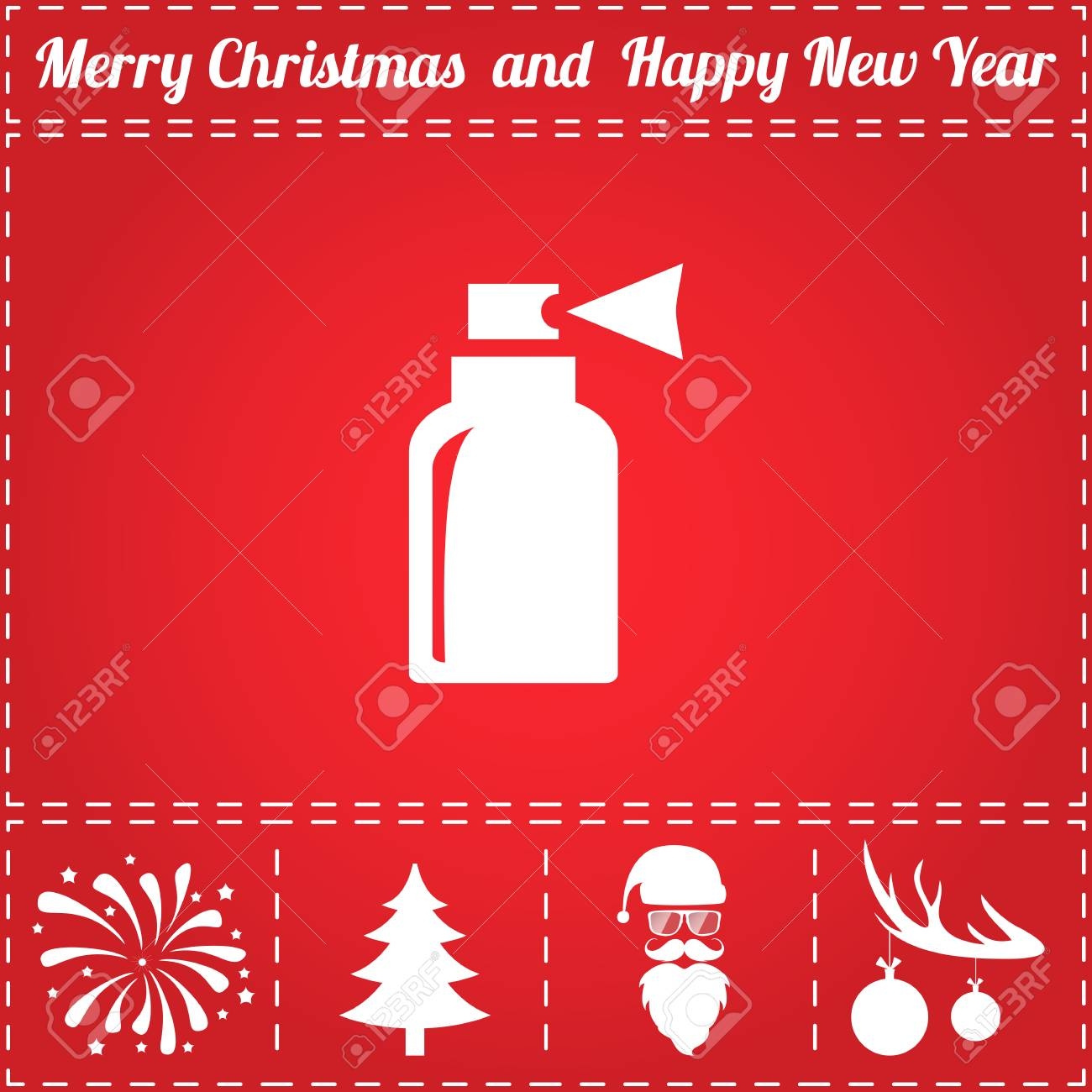 Christmas Tree Sprayer.Sprayer Icon Vector And Bonus Symbol For New Year Santa Claus