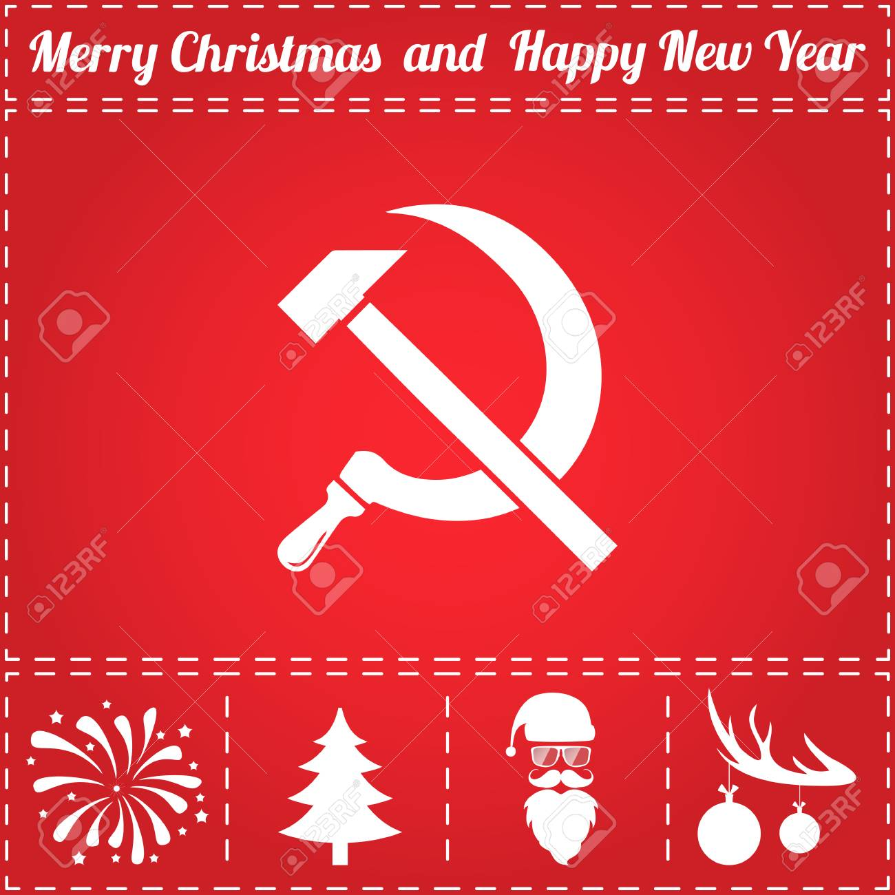 Hammer sickle icon vector and bonus symbol for new year santa hammer sickle icon vector and bonus symbol for new year santa claus christmas biocorpaavc Gallery