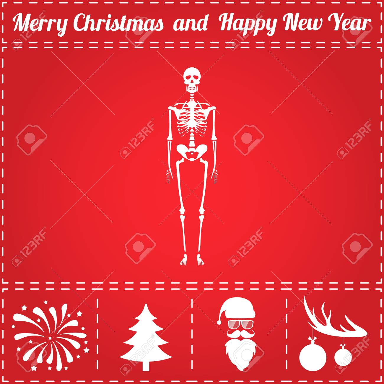 Anatomy Icon Vector. And Bonus Symbol For New Year - Santa Claus ...