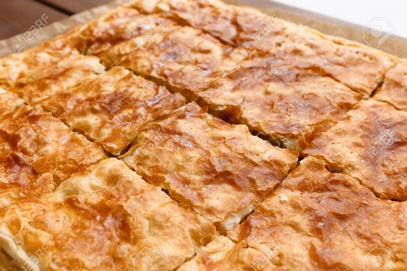 Konzept Von Tortenkuchen Ein Gut Gekochter Blatterteig Blatterteig