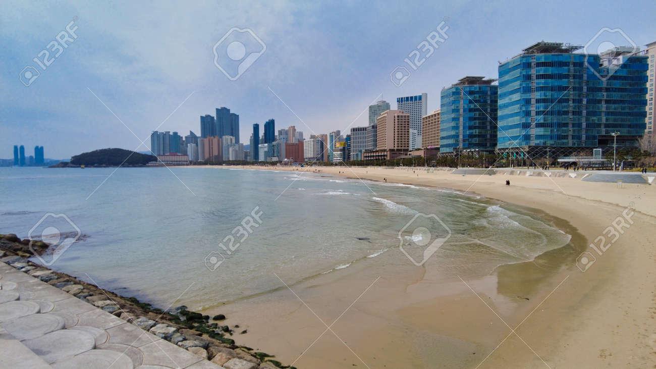 Scenery of haeundae beach, Busan, South Korea, Asia - 166949969