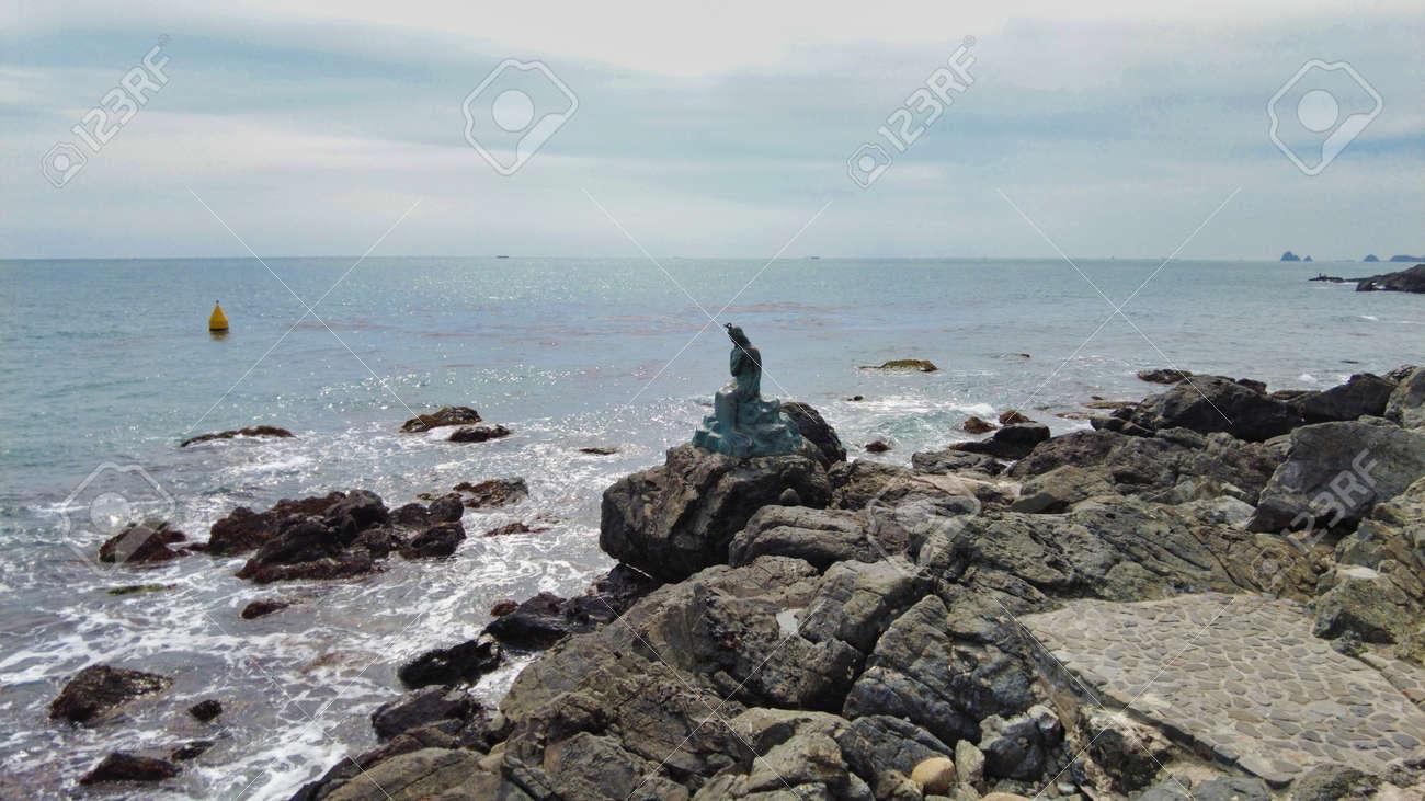 Scenery of haeundae beach, Busan, South Korea, Asia - 166949952