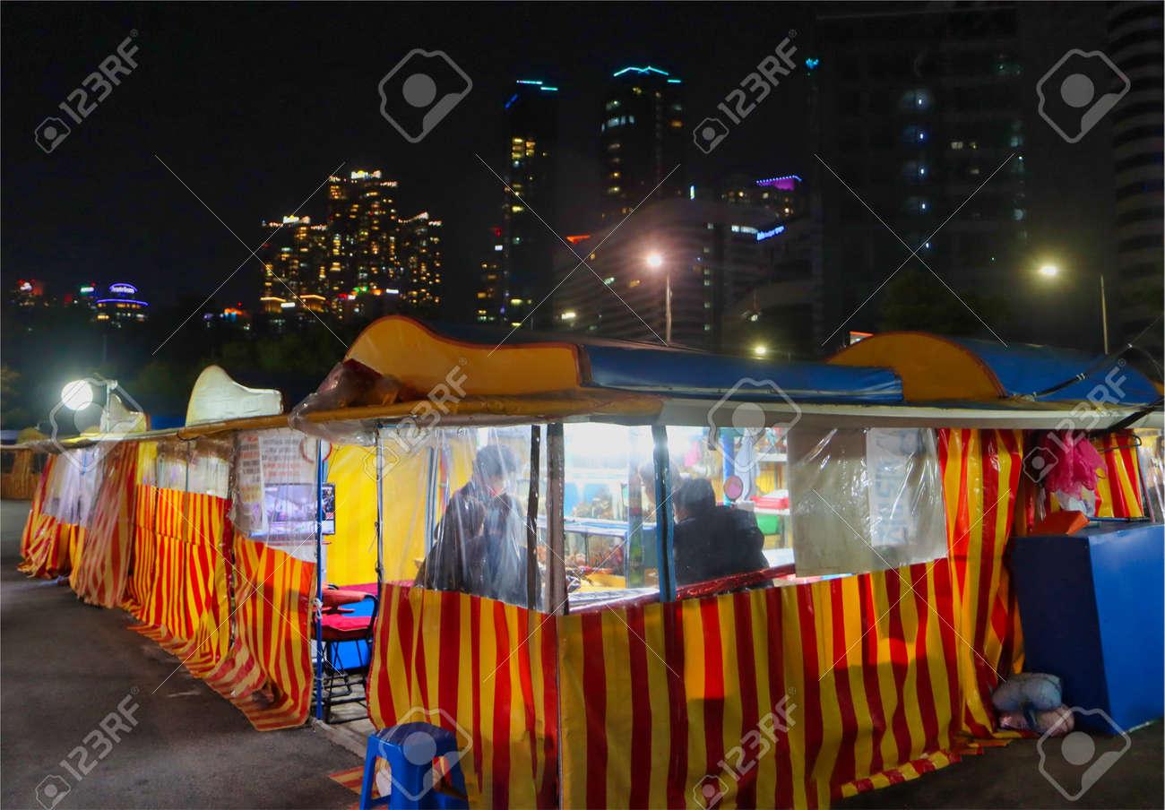 Light Festival in haeundae, Busan, South Korea, Asia. - 166952118