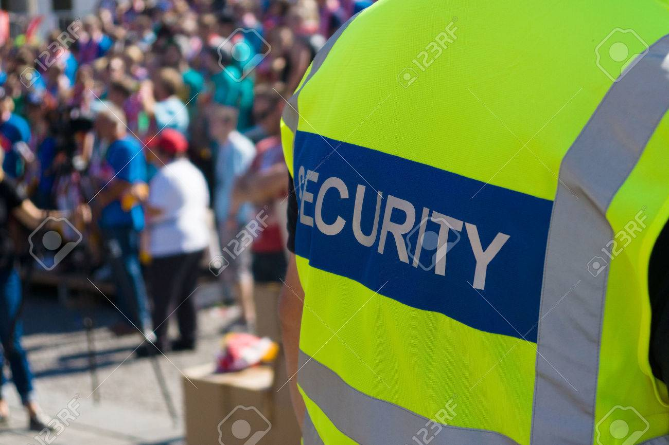 A security officer at the concert - 27574891