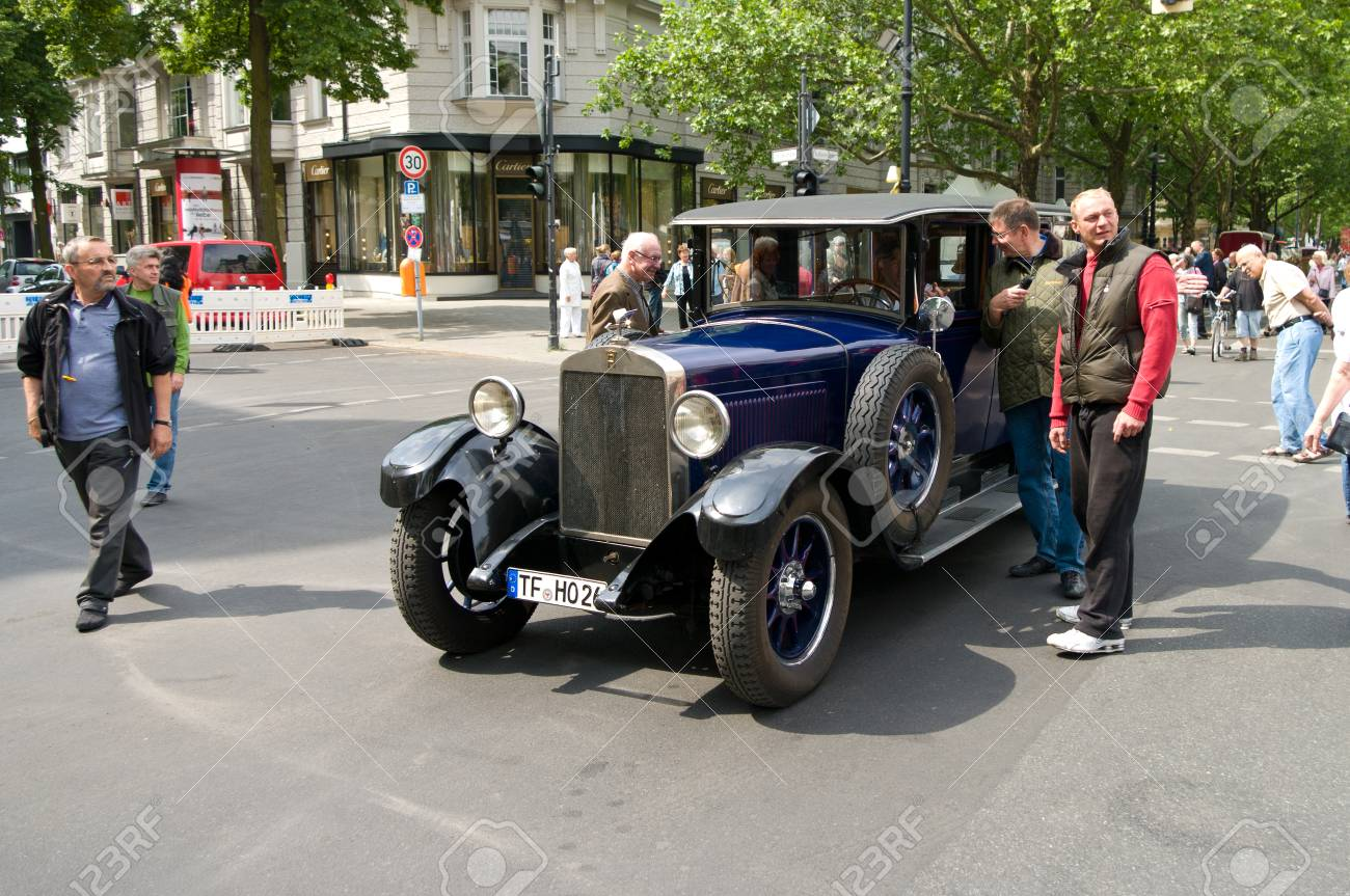 BERLIN - MAY 28 Cars Horch Typ 303 8, The Exhibition 125 Car.. Stock ...