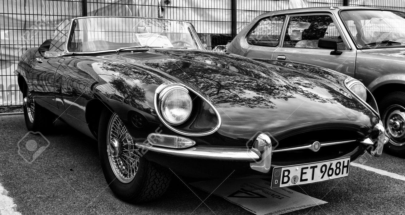 Berlin May 11 Sport Car Jaguar E Type 3 8 Black And White