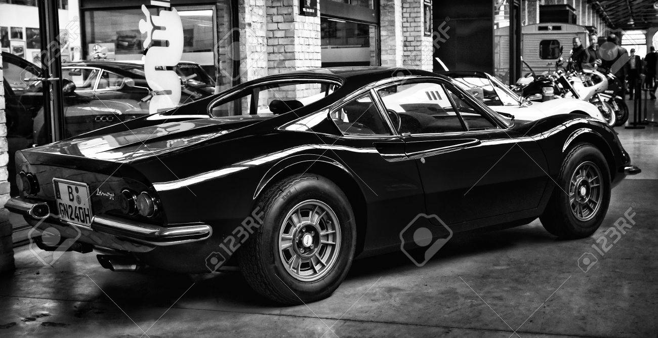 Berlin May 11 Sports Car Ferrari Dino 246 Gts Rear View Black Stock Photo Picture And Royalty Free Image Image 27731098