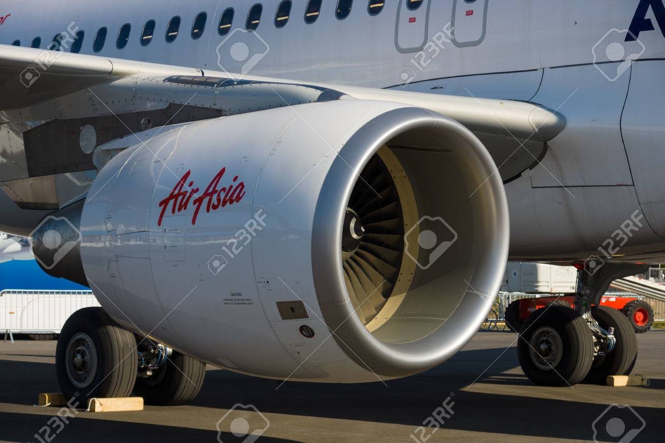 BERLIN - SEPTEMBER 14: Close-up of jet engine airplane Airbus