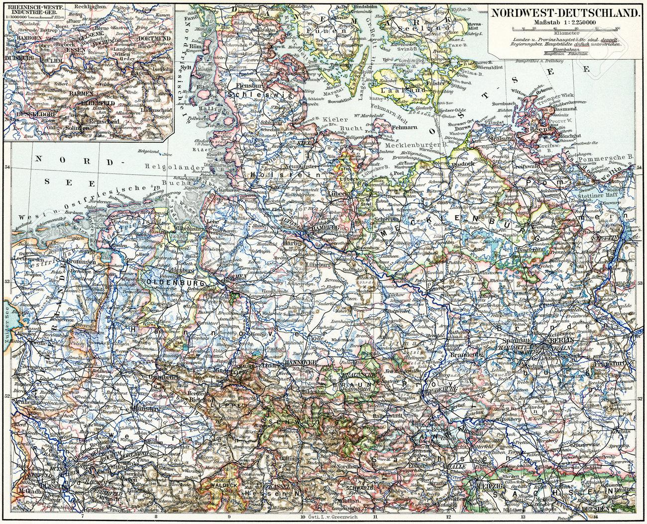 Karte Von Der Nord West Deutschland Veroffentlichung Des Buches