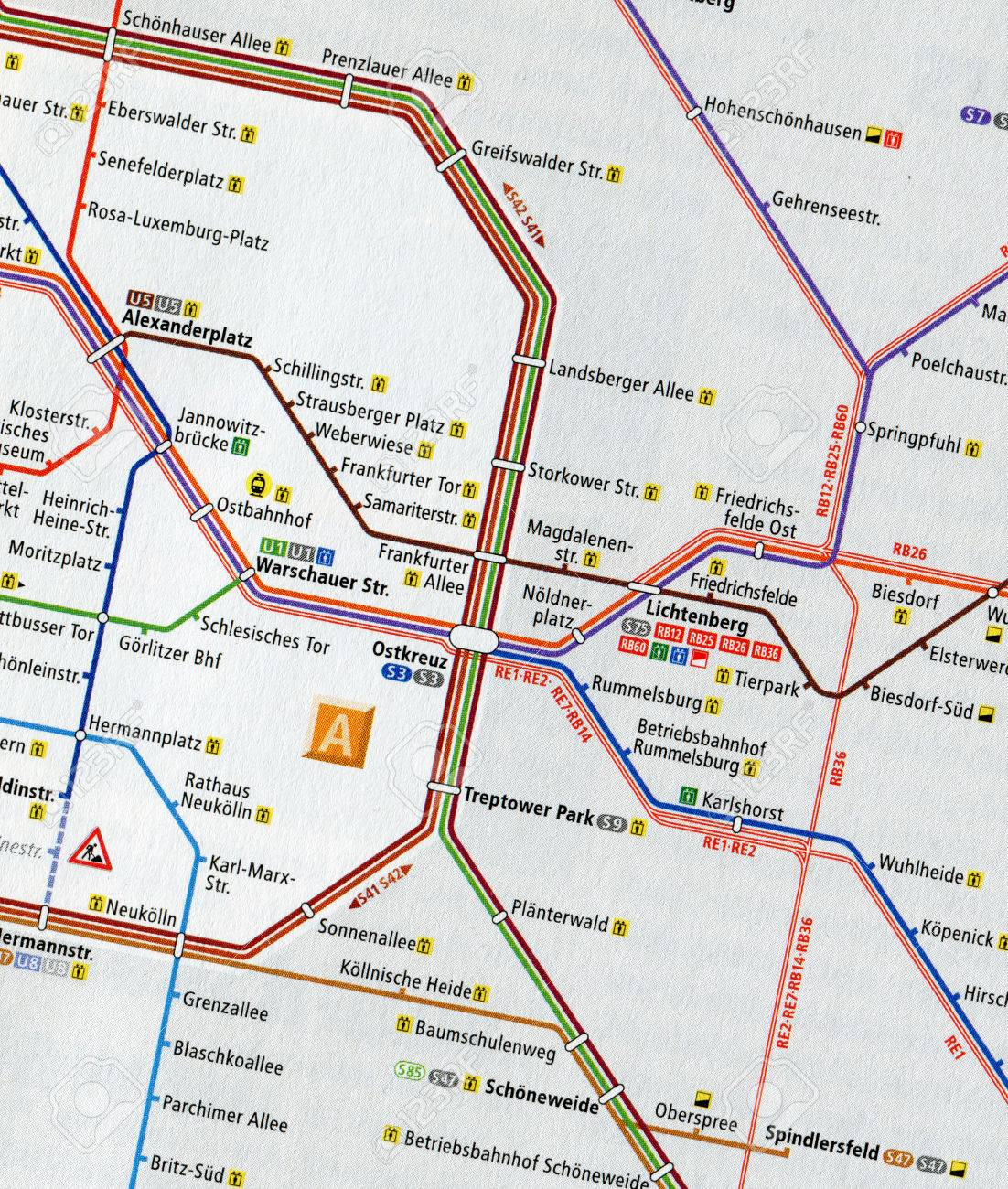 Map Of Central Germany.Berlin Germany May 11 2014 Close Up Map Of Central Berlin